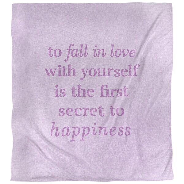 Quotes Handwritten Loving Yourself Single Reversible Duvet Cover