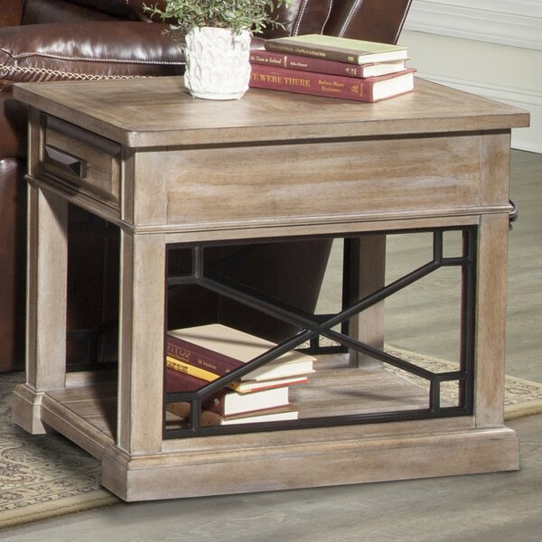 Tennison Floor Shelf End Table With Storage By Gracie Oaks