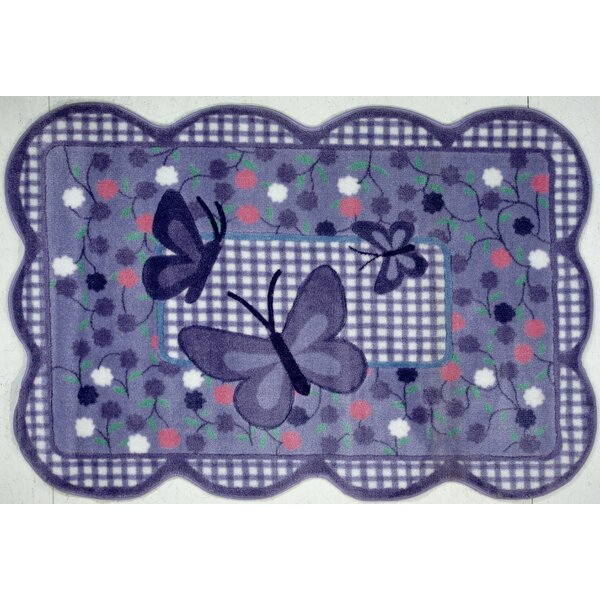 Supreme Butterfly Purple Area Rug by Fun Rugs