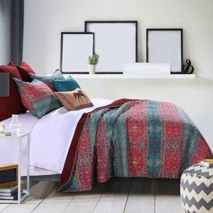 Marchelle 100% Cotton Sunset Quilt Set by Bungalow Rose