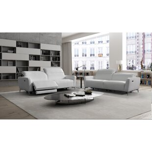 Modena Leather Configurable Living Room Set by Bellini Italian Home