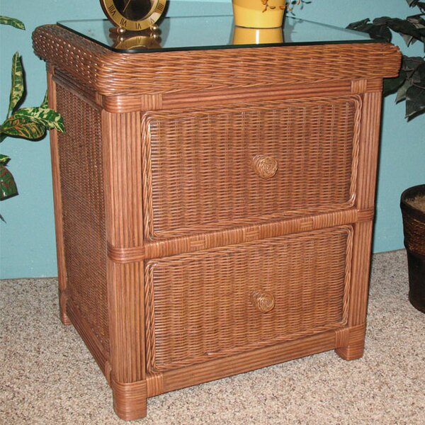 Pavilion 2 Drawer Nightstand by Wicker Warehouse