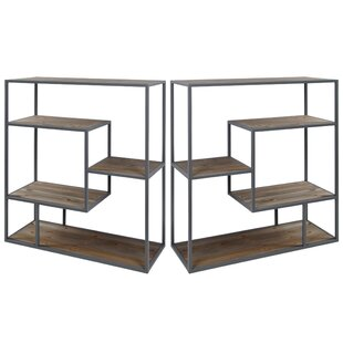 Matias Industrial Etagere Bookcase (Set of 2) Union Rustic