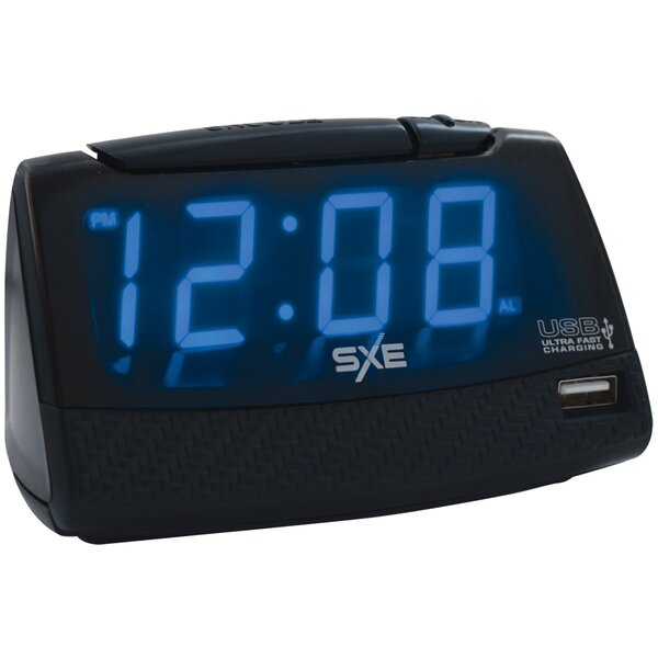 Alarm Clock with USB Charging Port Tabletop Clock by SXE