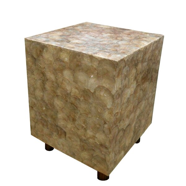 Capiz Shell Square Stool by D-Art Collection