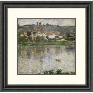 'Vétheuil' by Claude Monet Framed Painting Print by Global Gallery