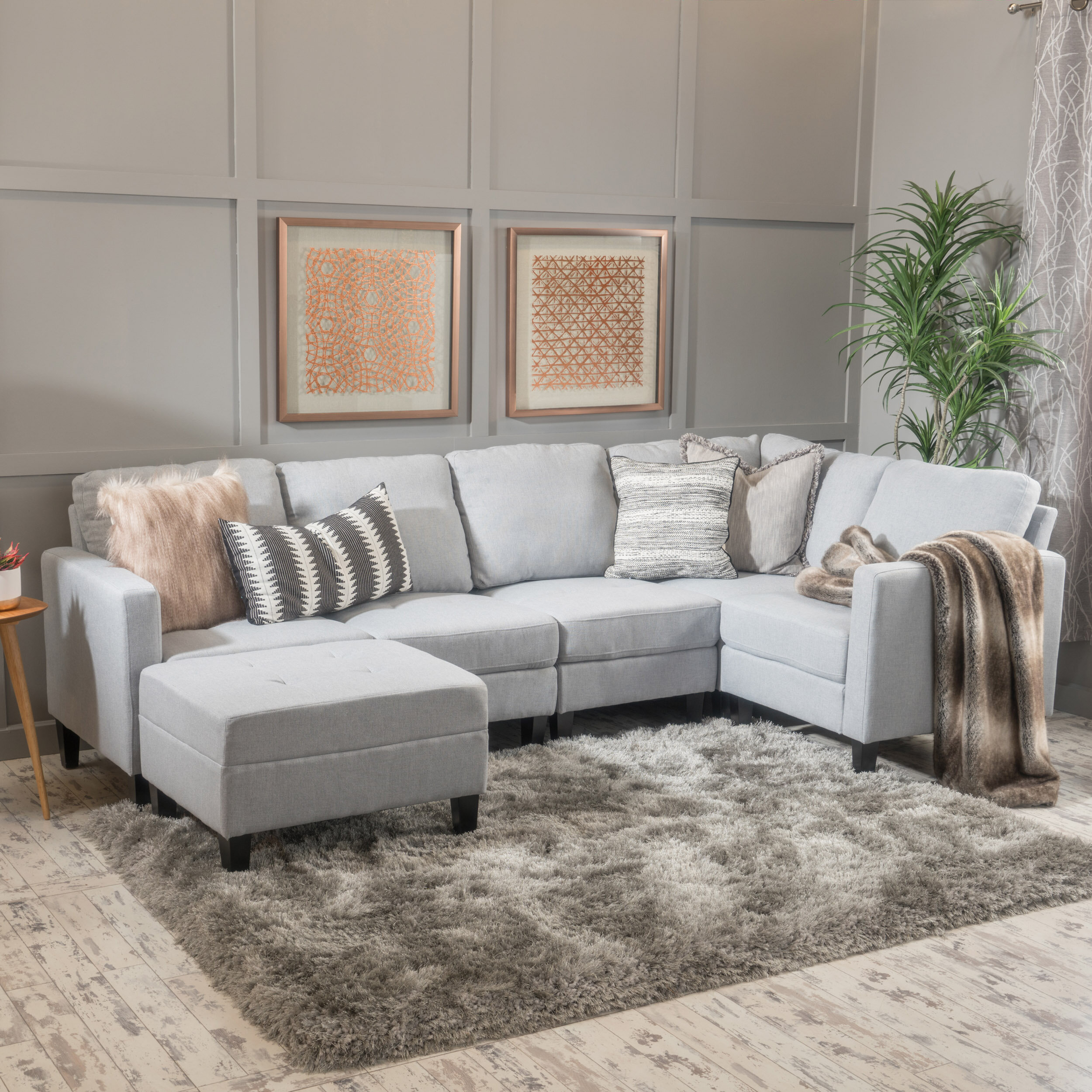 Astonishing Longwood Modular Sectional With Ottoman Gmtry Best Dining Table And Chair Ideas Images Gmtryco