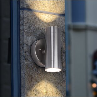 Great Price Mccollum 2-Light Outdoor LED Outdoor Sconce By Orren Ellis