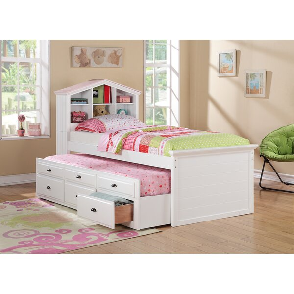 Fearn Twin Bed With Trundle Drawers And House Headboard by Harriet Bee