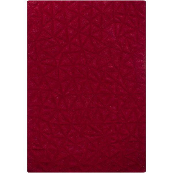Cooley Red Solid Area Rug by Orren Ellis