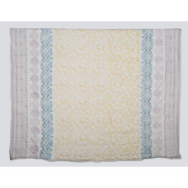 Cotton Hand Printed Reversible Quilt Set