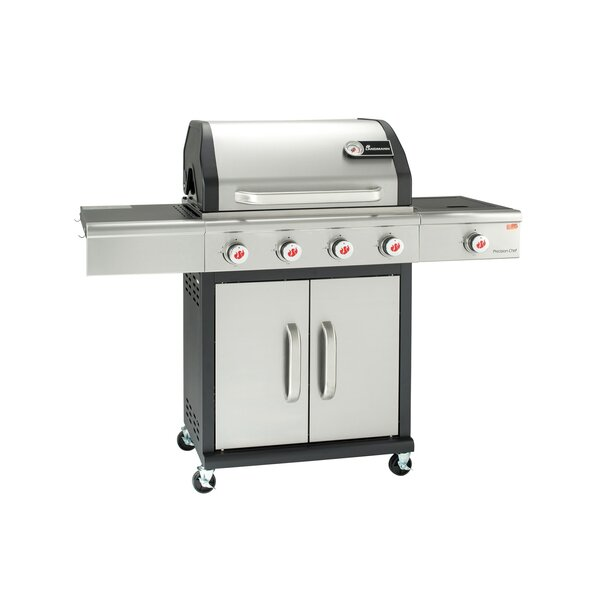 Precision 4-Burner Propane Gas Grill with Side Burner by Landmann
