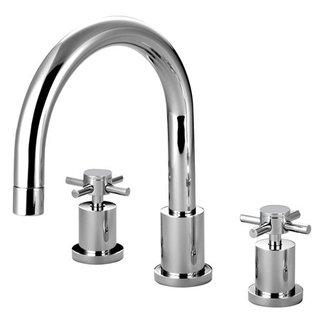 South Beach Double Handle Deck Mounted Roman Tub Faucet By Elements Of Design