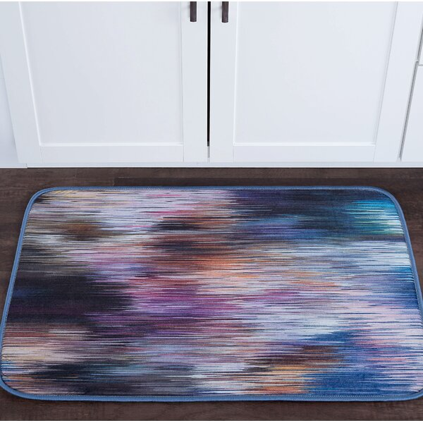 Knepp Rainbow Stria Foam Core Bath Rug by Zipcode Design
