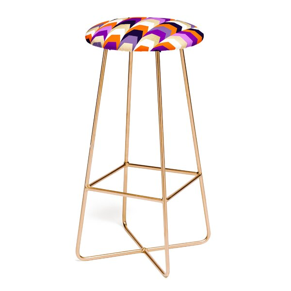 Elisabeth Fredriksson Stacks of Purple and Orange 30 Bar Stool by East Urban Home