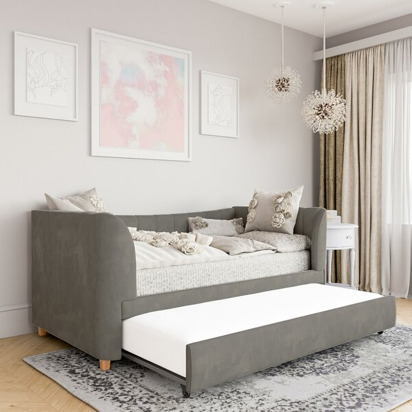 Valentina Upholstered Twin Daybed with Trundle
