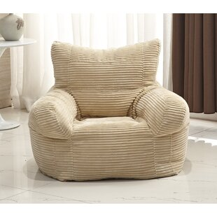Brown Leather Bean Bag Chair | Wayfair