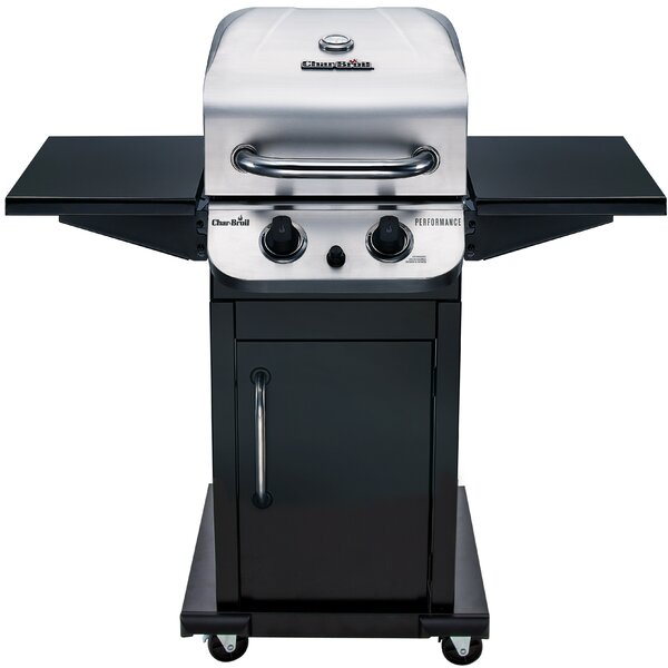 Performance 2-Burner Propane Gas Grill with Cabine