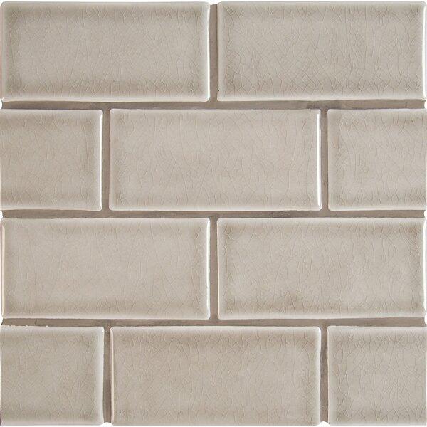 3 x 6 Ceramic Subway Tile in Dove Gray by MSI