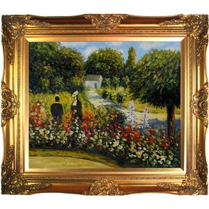The Rose Garden at Wargemont by Pierre-Auguste Renoir Framed Painting by Tori Home