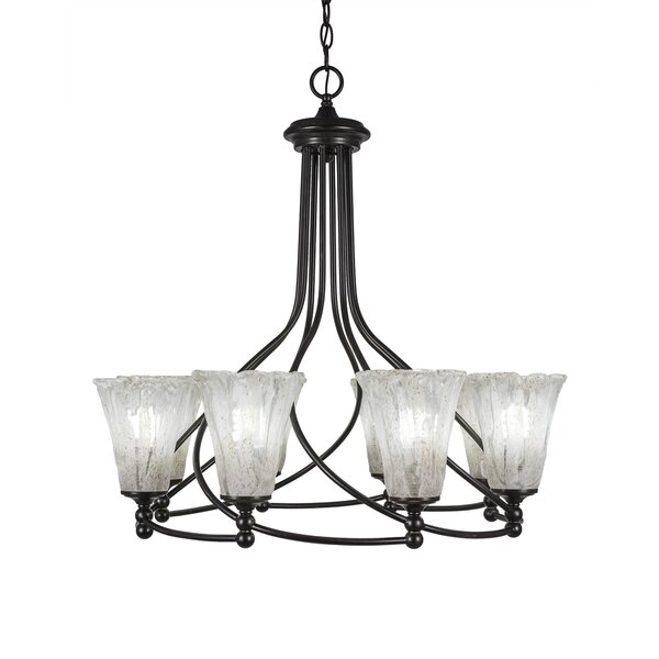 Skypark 8-Light Shaded Wagon Wheel Chandelier By Winston Porter
