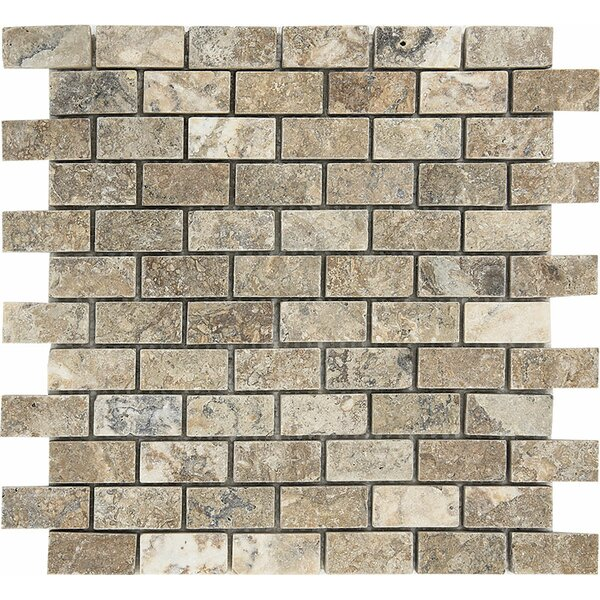 1 x 0.38 Stone Mosaic Tile in Antico Honed by Parvatile