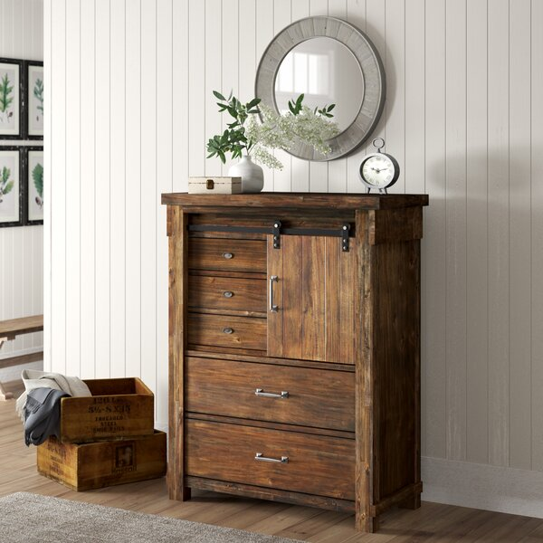 Pudsey 5 Drawer Gentlemans Chest by Three Posts