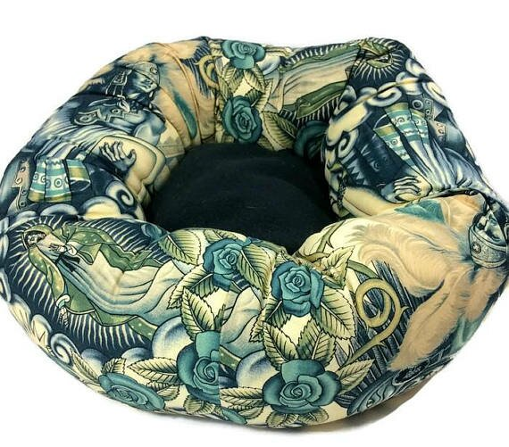 Skull and Warrior Round Bolster by East Urban Home