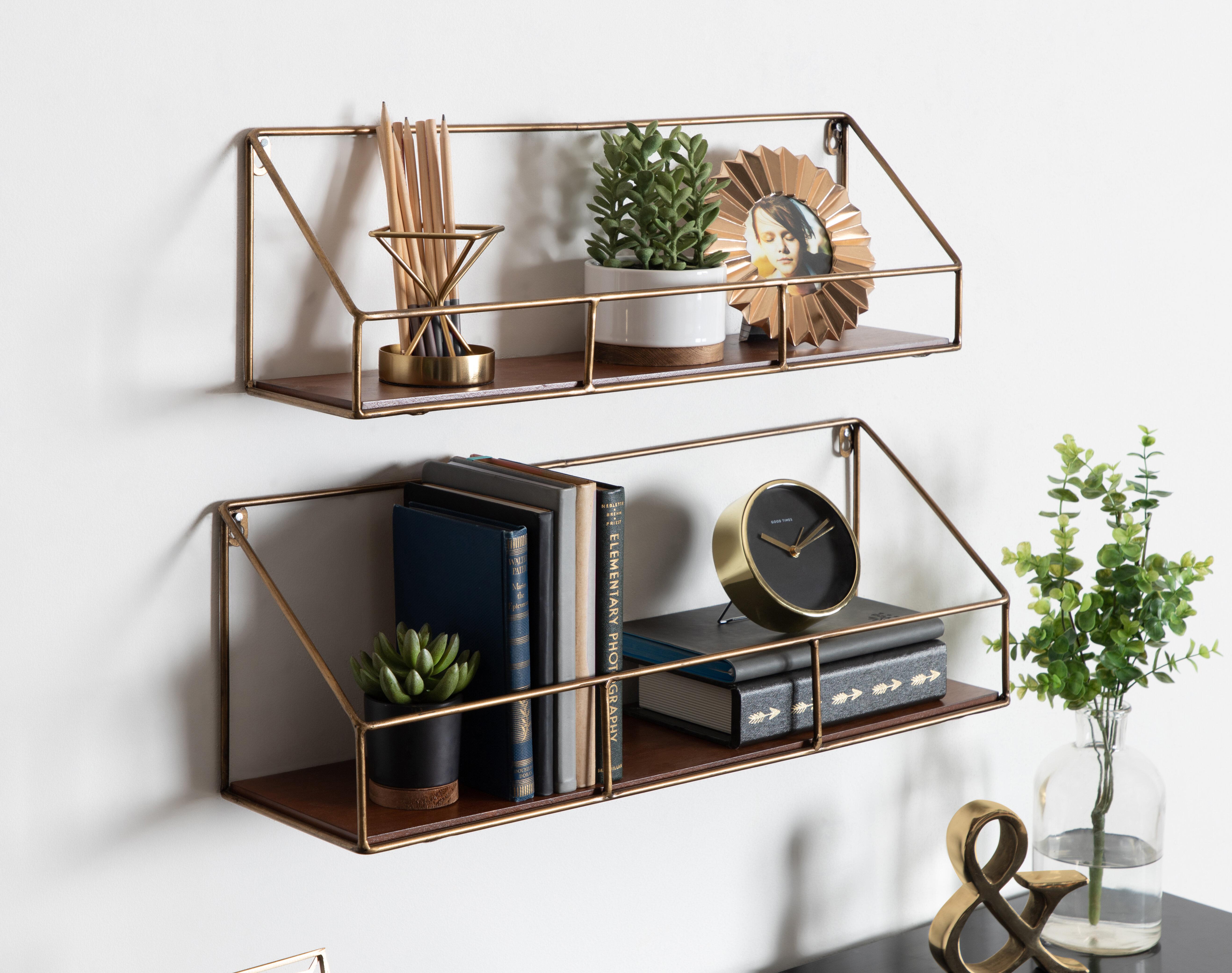 leola 2 piece wall shelf set j