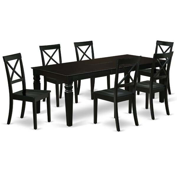 Askim 7 Piece Extendable Solid Wood Dining Set by Winston Porter Winston Porter
