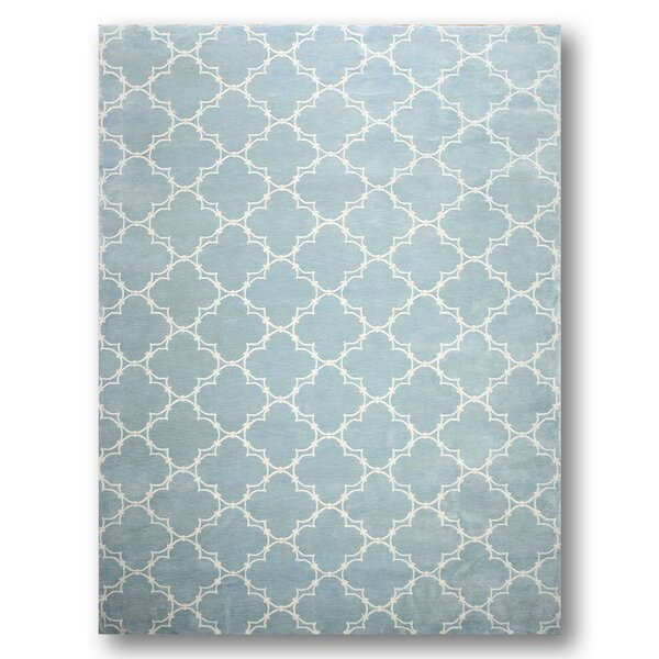 One-of-a-Kind Haines Hand-Knotted Wool Blue Area Rug by Canora Grey