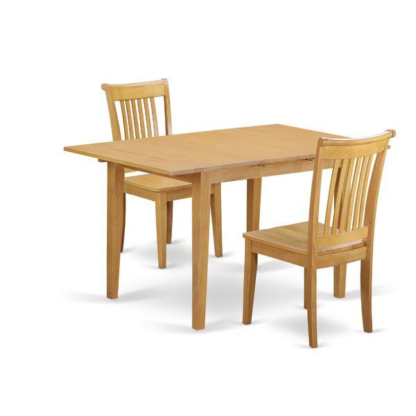 Balfor 3 Piece Extendable Breakfast Nook Solid Wood Dining Set by Andover Mills