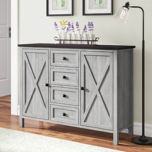 Lamb Farmhouse 4 Drawer 2 Door Accent Cabinet