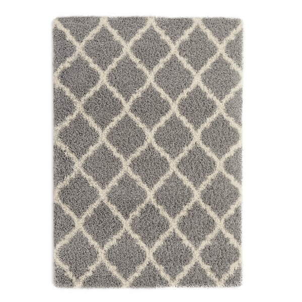 Gray Area Rug by Berrnour Home