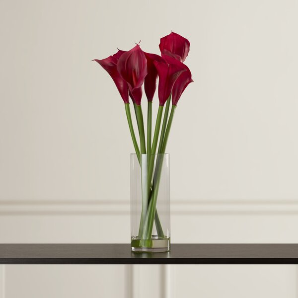 Floral Calla Lilies in Acryllic Water Vase by Willa Arlo Interiors
