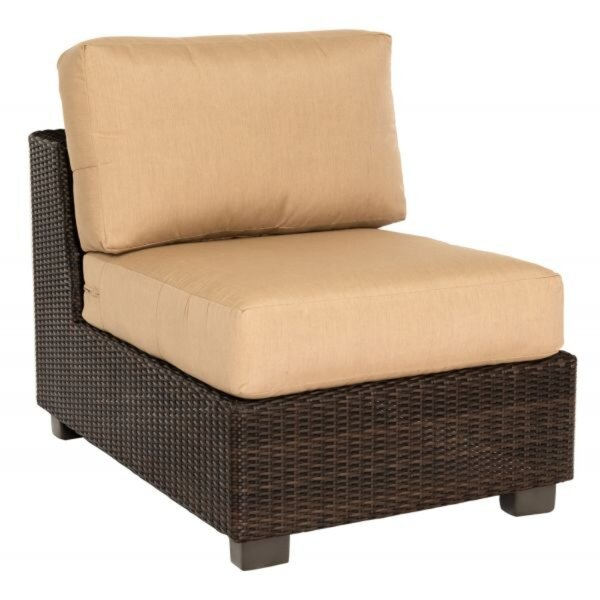 Montecito Armless Sectional Unit Patio Chair with Cushions by Woodard