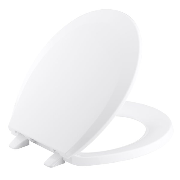 Lustra with Quick-Release Hinges Round-Front Toilet Seat by Kohler