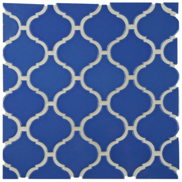 Retro Lantern 2.87 x 3.06 Porcelain Mosaic Tile in Glossy Blue by EliteTile