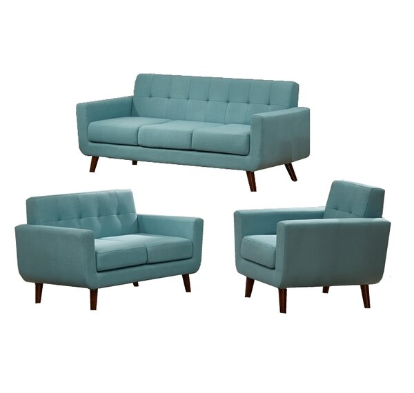 Rohan 3 Piece Fabric Living Room Set By Langley Street Amazing