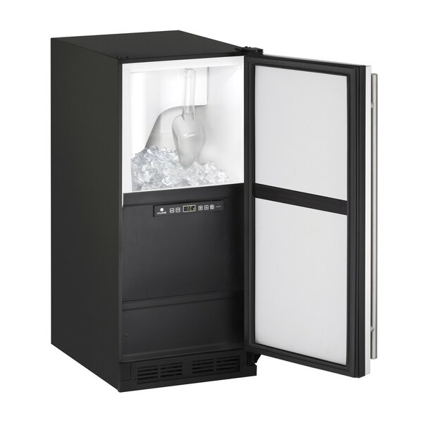 1000 Series No Pump Reversible 60 lb. Daily Production Freestanding Clear Ice Maker by U-Line