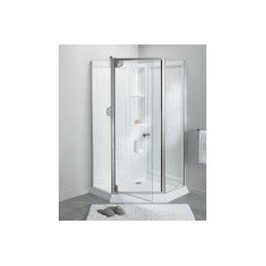 Solitaire® Frameless Neo Angle Corner Shower Kit