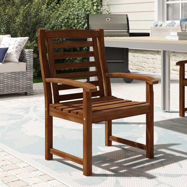 Rothstein Traditional Patio Dining Chair by Beachcrest Home