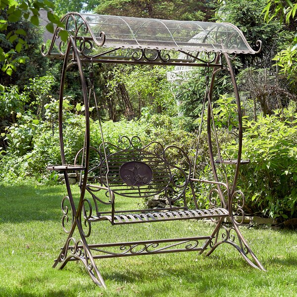 Burnett Electroplated Garden Porch Swing with Stand by One Allium Way