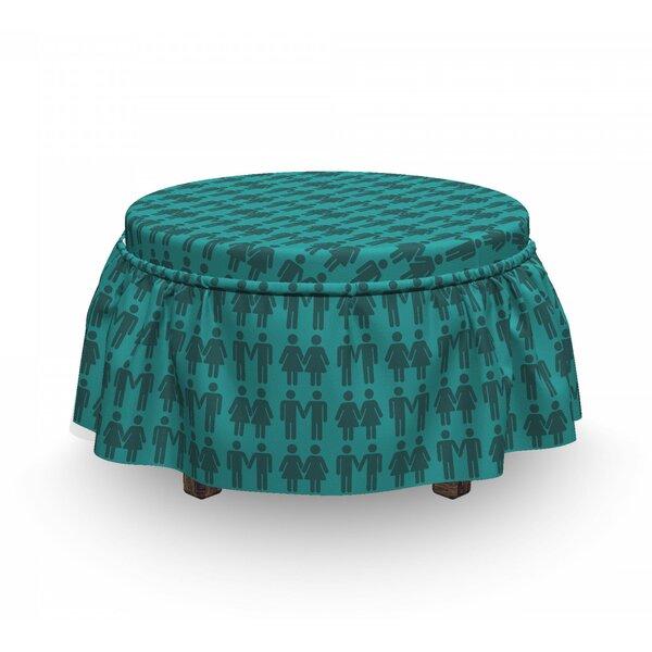 Free S&H Box Cushion Ottoman Slipcover