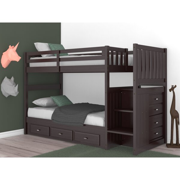 Giulio Twin Over Twin Bunk Bed with Drawers by Birch Lane™ Heritage