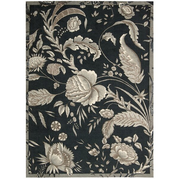 Artisinal Delight Fanciful Black/Ivory Area Rug by Waverly
