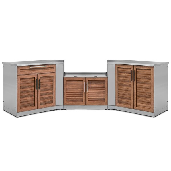 Kitchen 7 Piece Outdoor Bar Center Set by NewAge Products