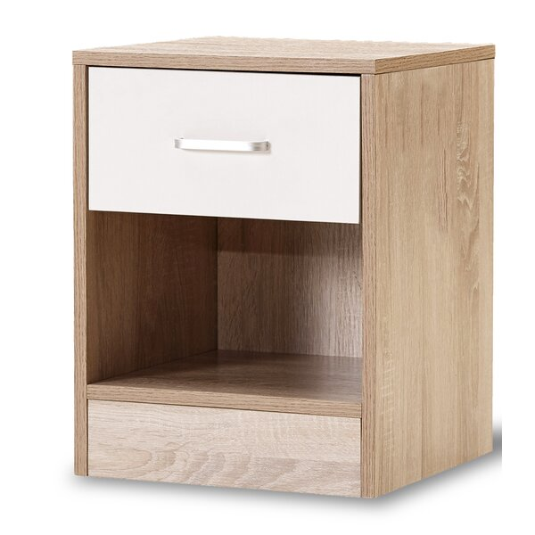 Maciejewski 1 Drawer Nightstand by Ebern Designs