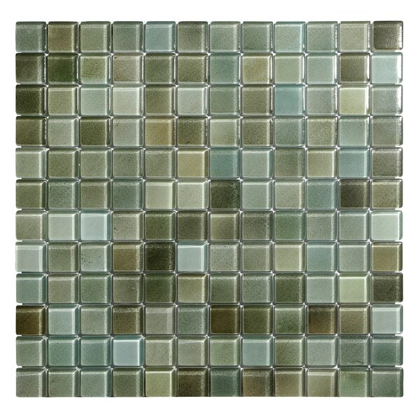 Hi-Fi 1 x 1 Glass Mosaic Tile in Green by Kellani