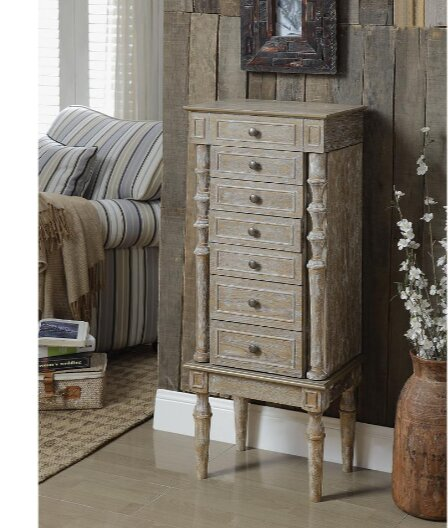 Plainville Jewelry Armoire with Mirror by Ophelia & Co.